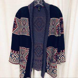 Forever 21 Aztec cardigan sweater oversized size S